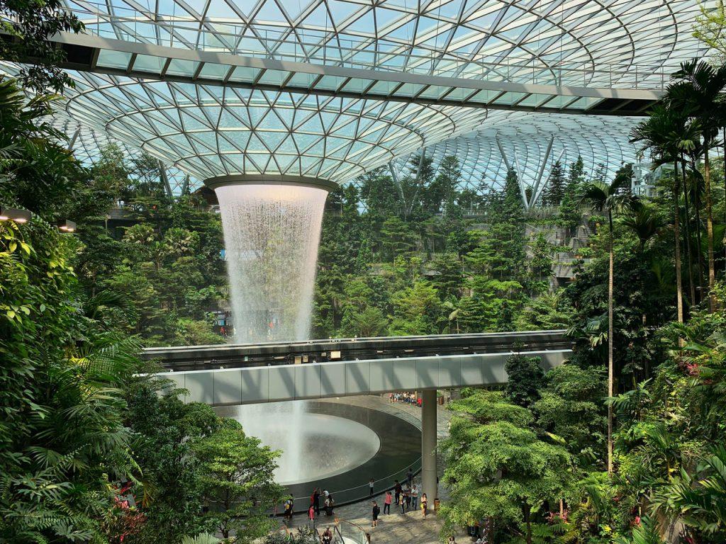 Jewel @ Changi Airport Waterfall