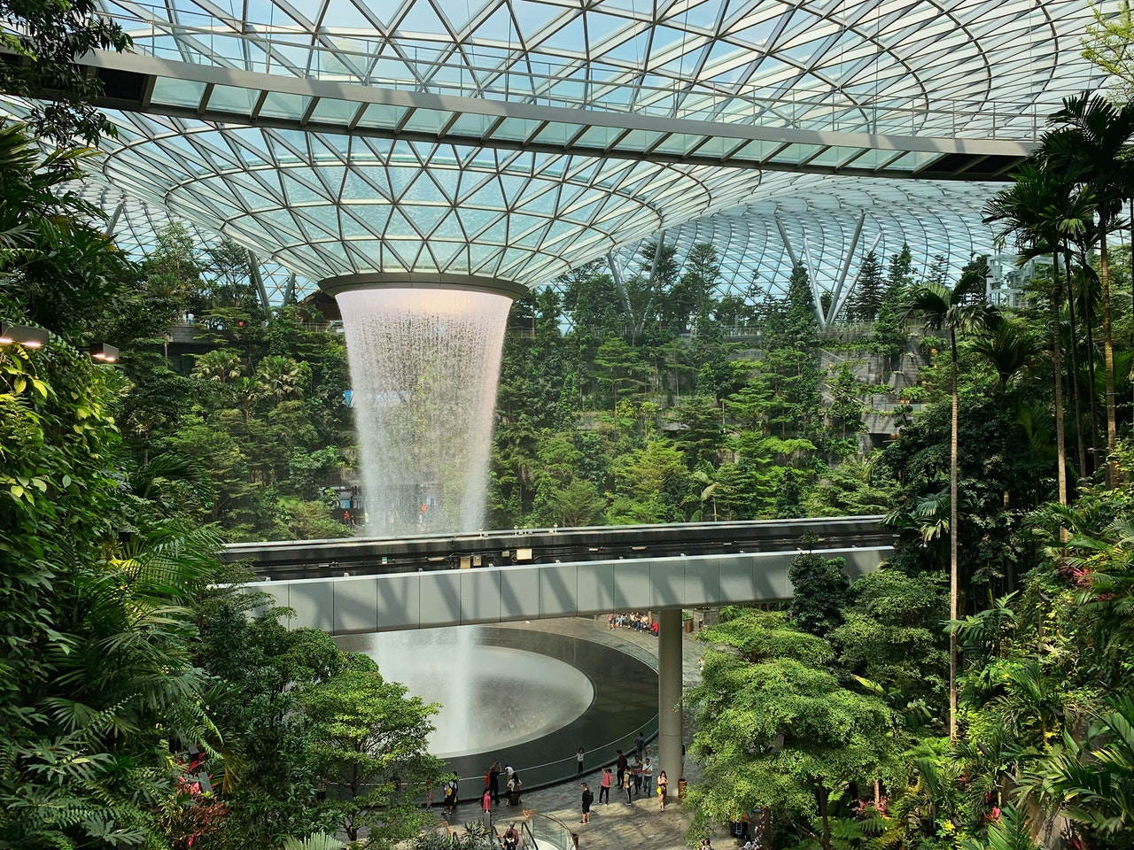 Jewel @ Changi Airport Waterfall