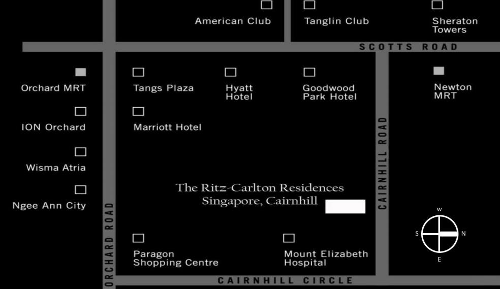 Ritz Carlton Location Map