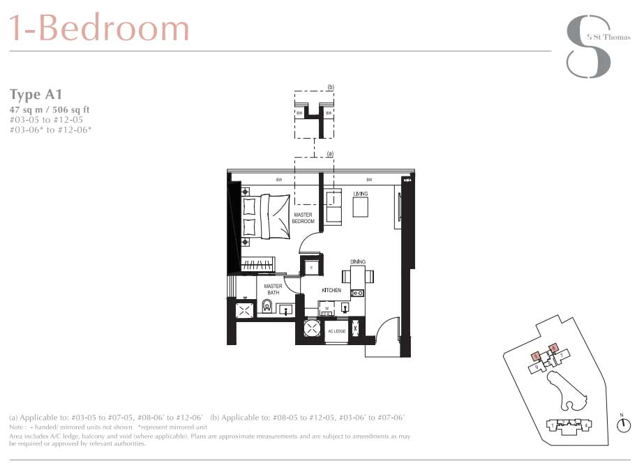 8 St Thomas 1 Bedroom Layout   SG Luxury Condo for Sale
