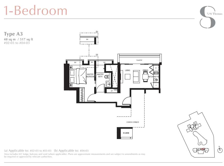 8 St Thomas 1 Bedroom Floorplan   SG Luxury Condo for Sale
