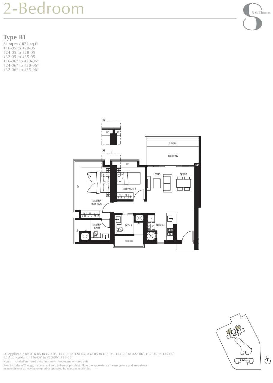 8 St Thomas 2 Bedroom Floorplan   SG Luxury Condo for Sale