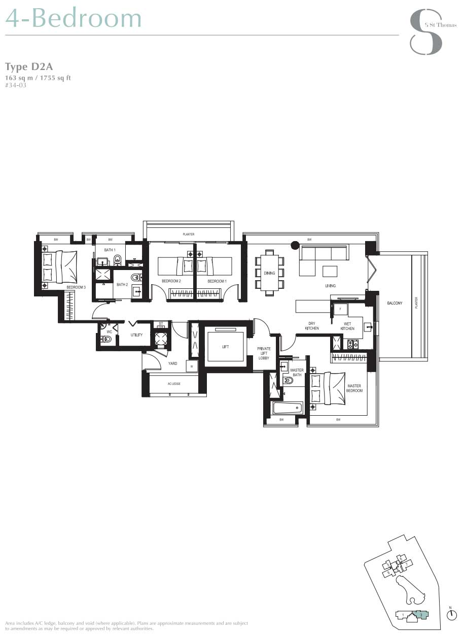 8 St Thomas 4 Bedroom Layout   SG Luxury Condo for Sale