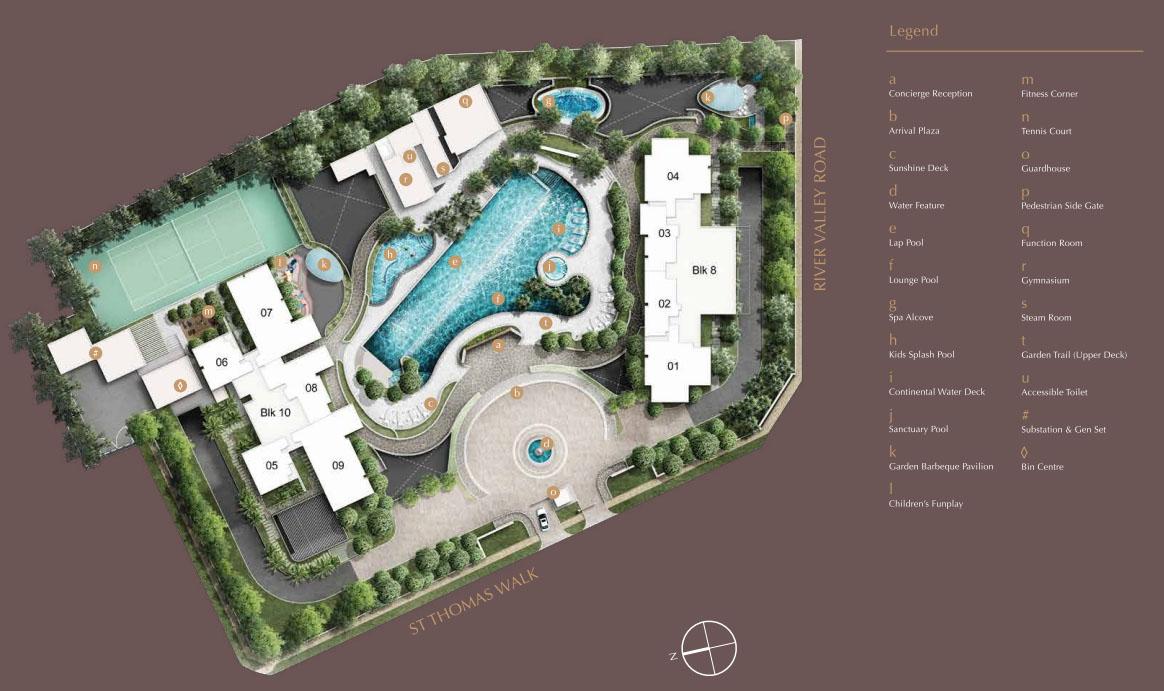 8 St Thomas Siteplan   SG Luxury Condo for Sale