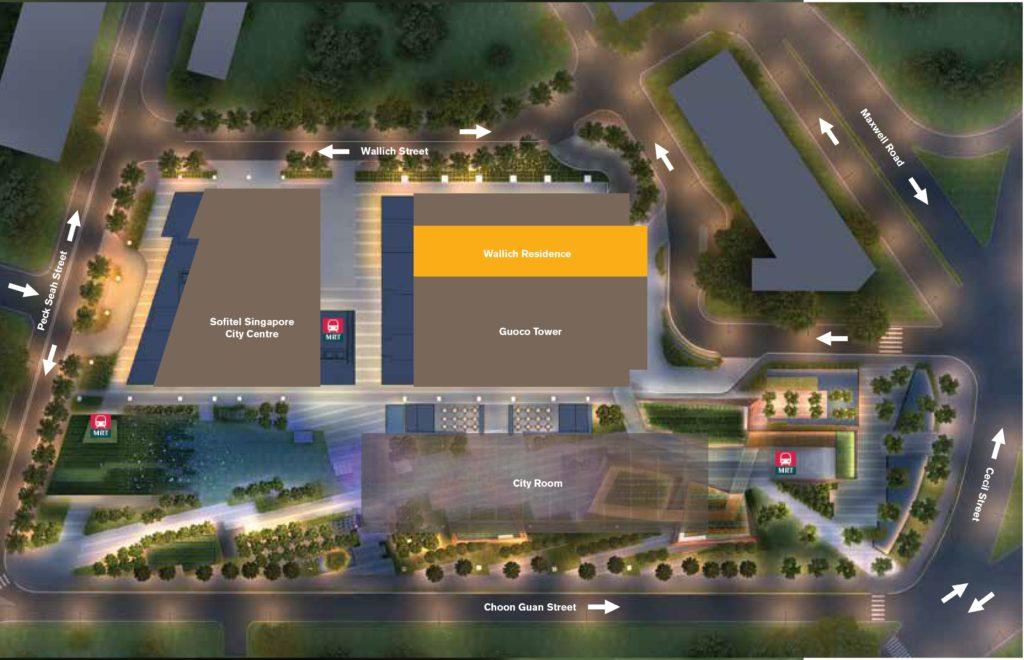 Wallich Residence | SG Tallest Luxury Condominium Site Plan