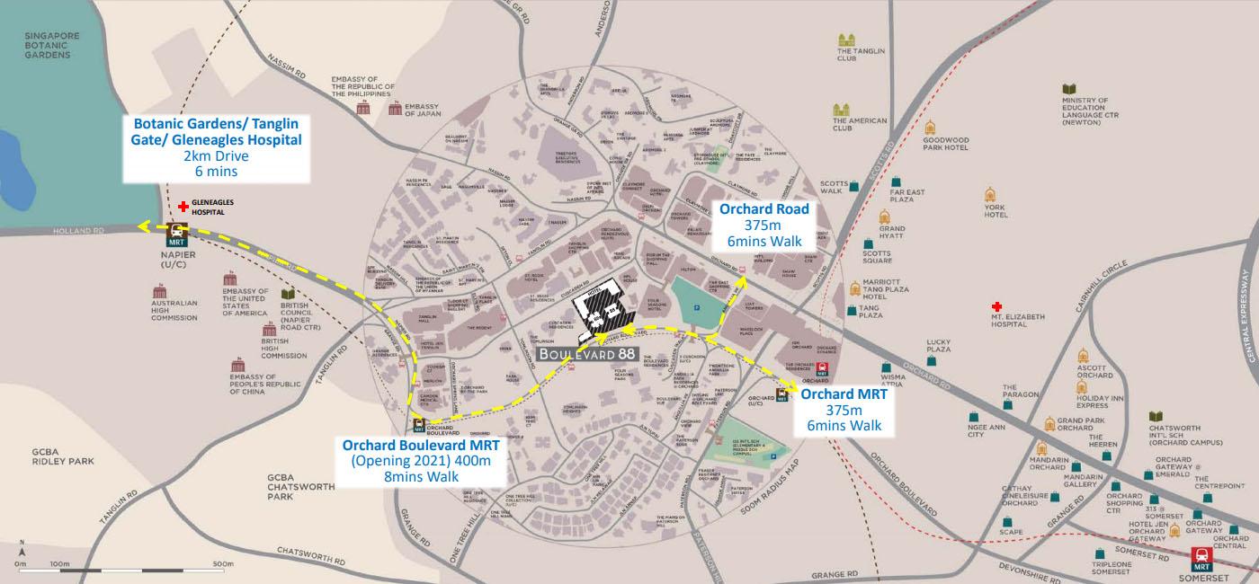 Boulevard 88 Location Map | SG Luxury Condo