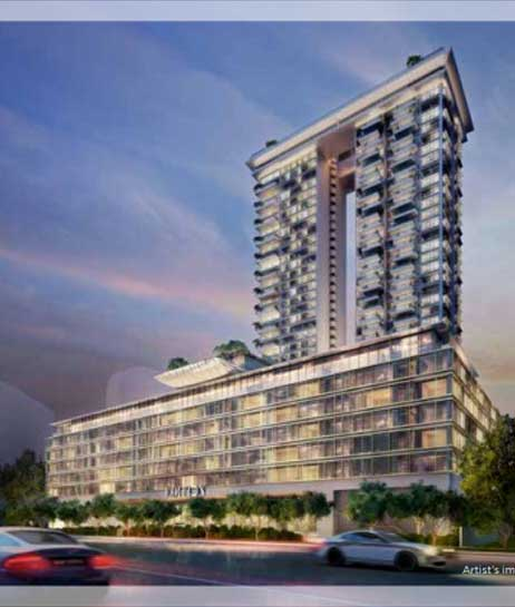 Boulevard 88 View from Cuscaden Road | SG Luxury Condo