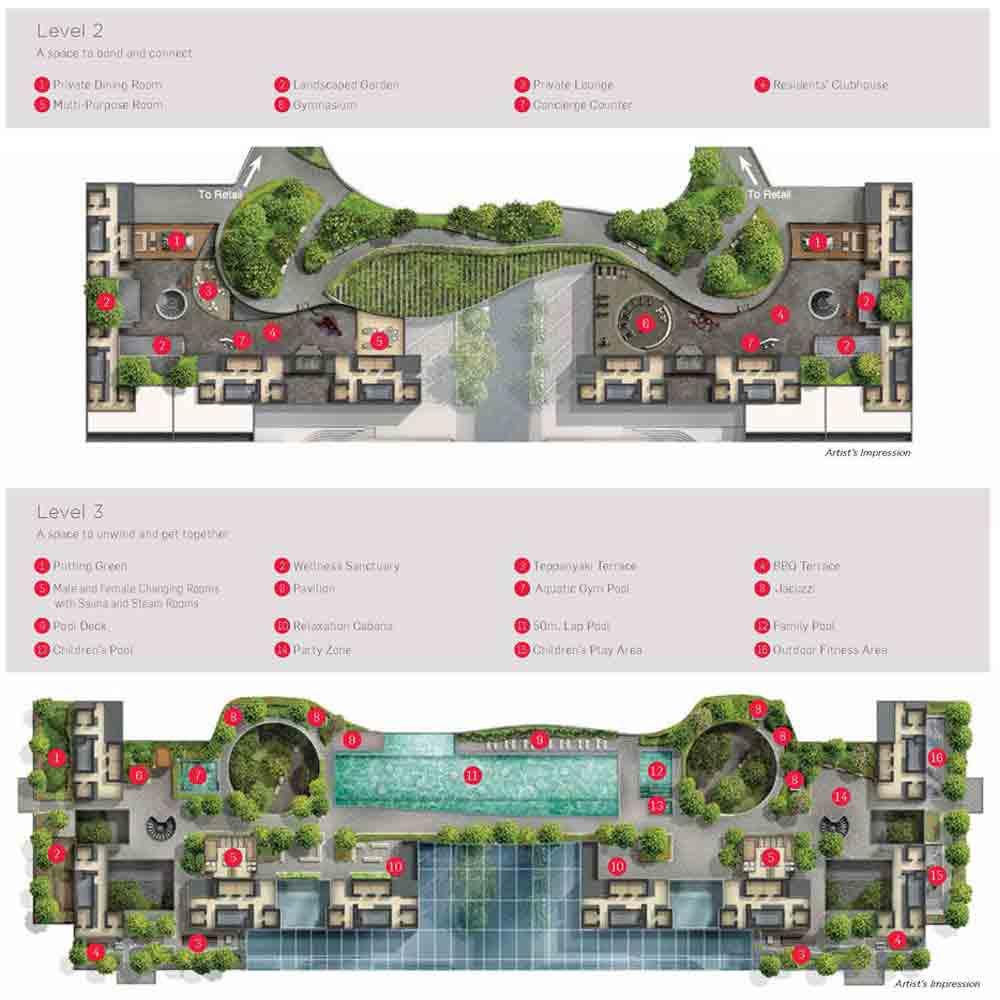 Marina One Residences Facilities | Singapore Luxury Condominium for Sale