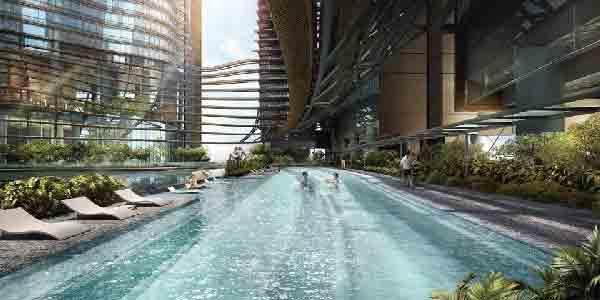 Marina One Residences Swimming Pool | Singapore Luxury Condominium for Sale