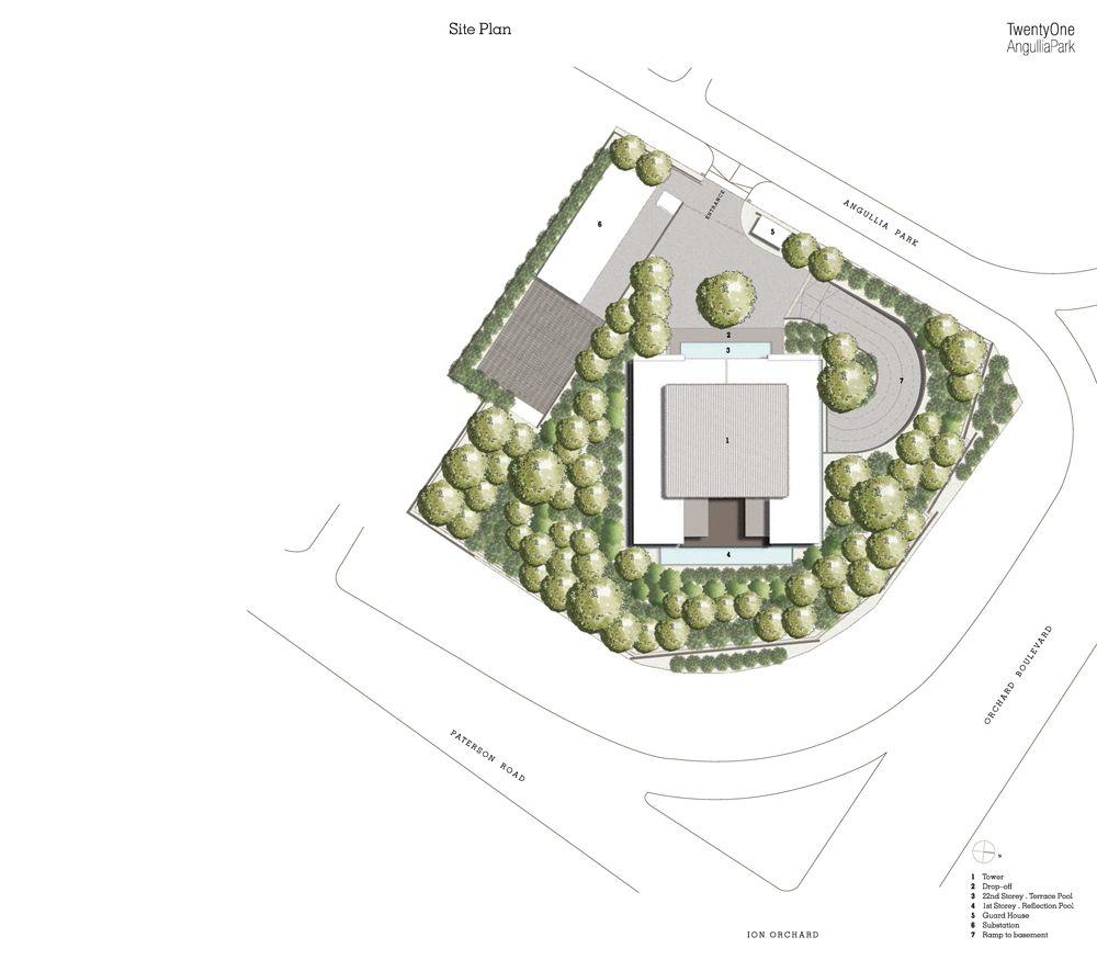 21 Angullia Park Siteplan | SG Luxury Condo