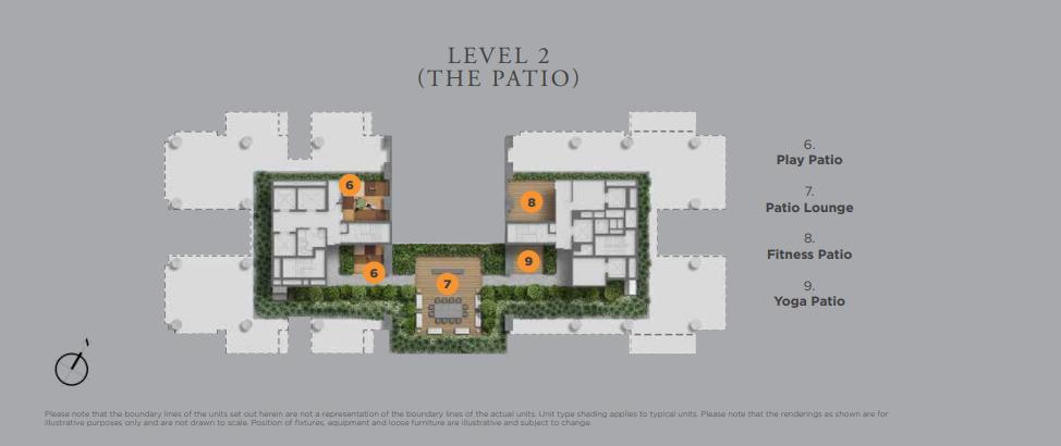 Boulevard 88 Patio Siteplan | SG Luxury Condo