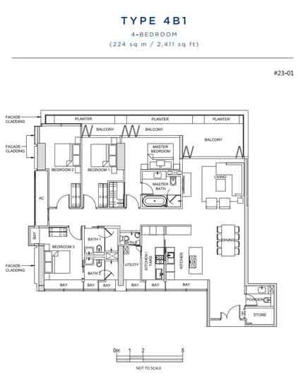 South Beach Residences 4 Bedroom Floorplan   Singapore Luxury Condominium for Sale