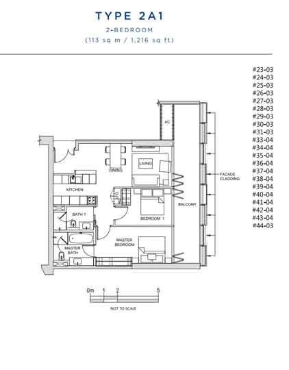 South Beach Residences 2 Bedroom Floor Plan   Singapore Luxury Condominium for Sale