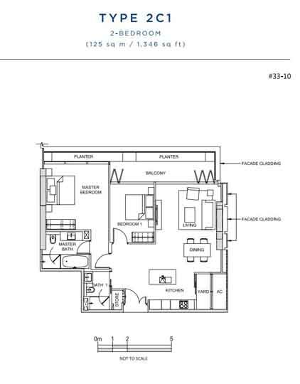 South Beach Residences 2 bedroom floorplan   Singapore Luxury Condominium for Sale