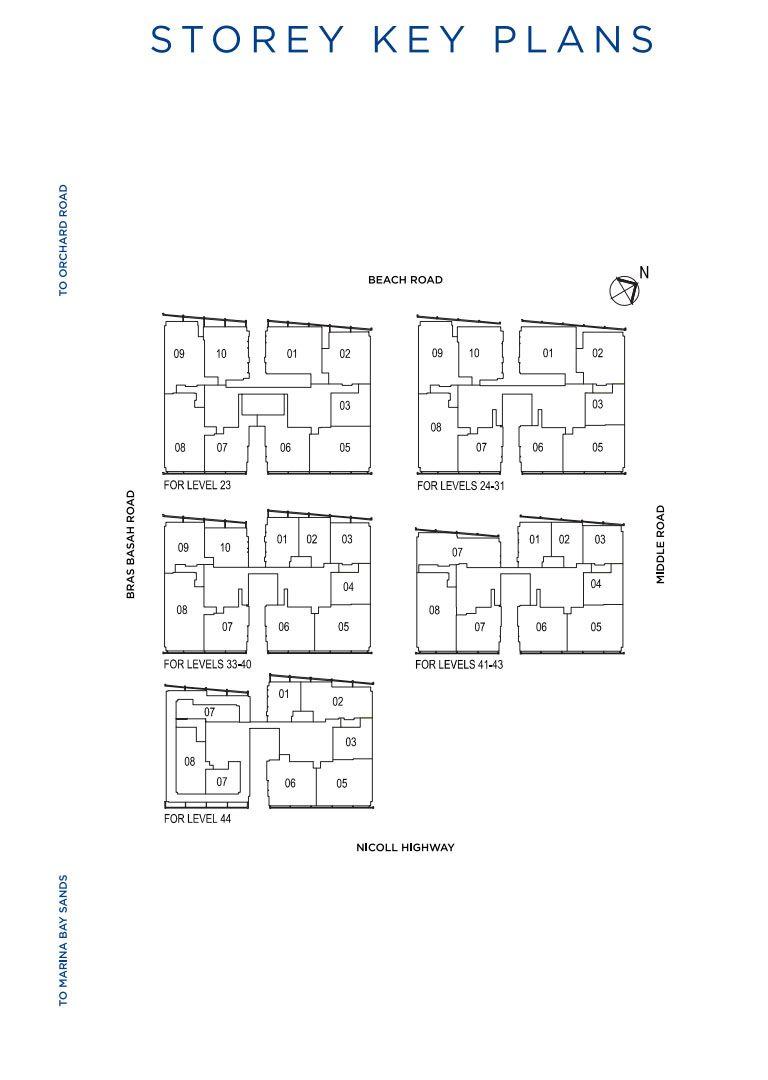 South Beach Residences Key Plans   Singapore Luxury Condominium for Sale