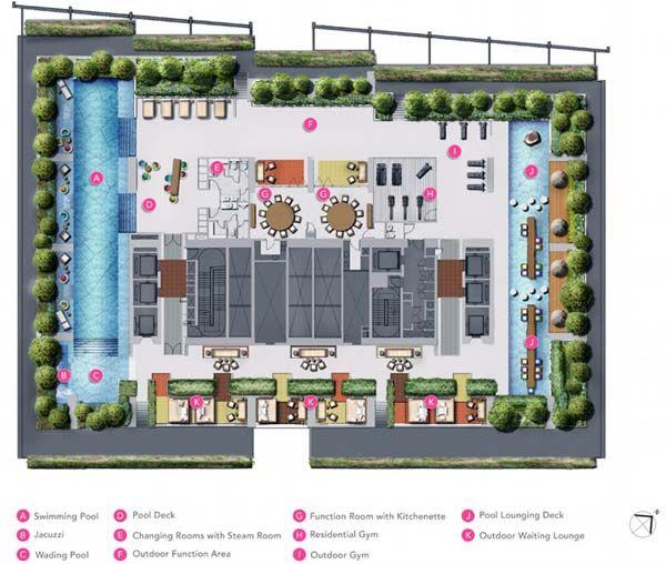 South Beach Residences Site plan   Singapore Luxury Condominium for Sale