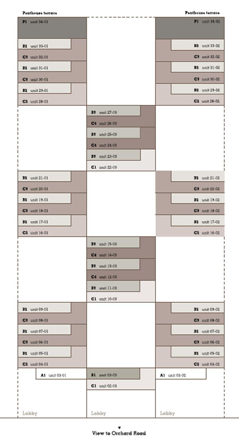 21 Angullia Park Unit Distribution | SG Luxury Condo