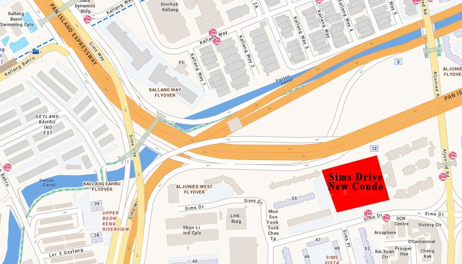 Sims Villa Map | Singapore Luxury Condominium