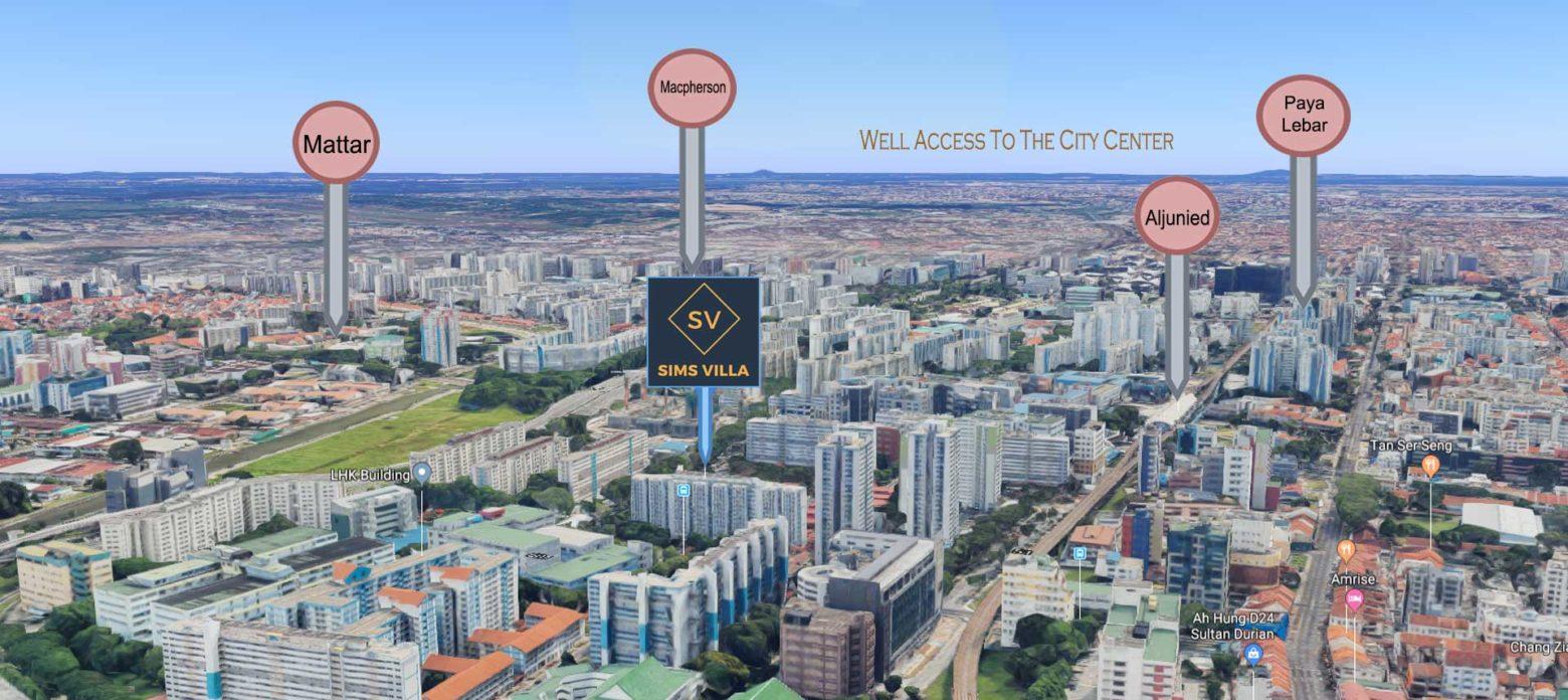 Sims Villa Location Map | Aljunied Singapore Luxury Condominium