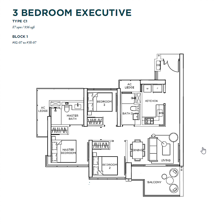 gem residences brand new 3 bedroom for sale