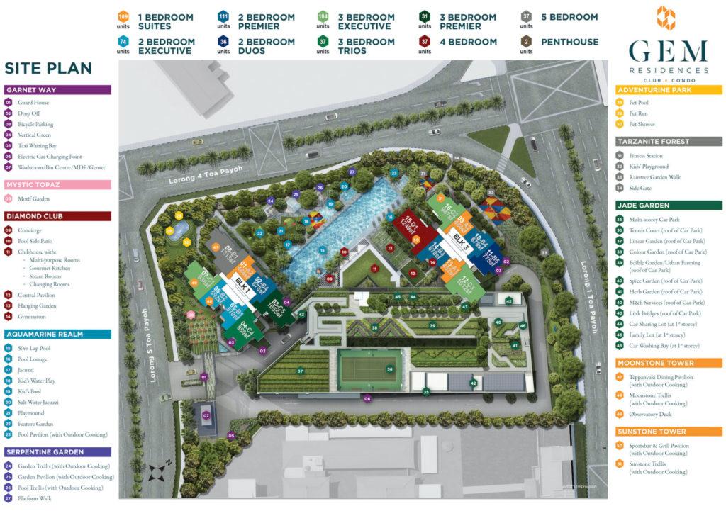 gem residences facilities