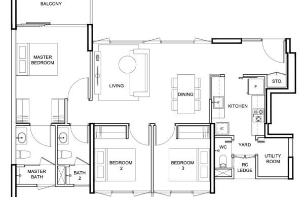 Vue 8 residences floorplan