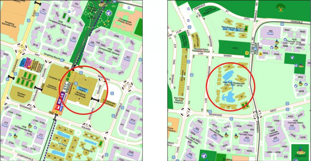 Map of Near vs Far from MRT